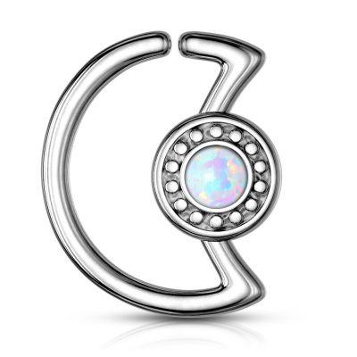 Poolkuukujulne rõngas opaaliga