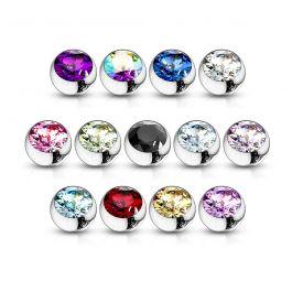 Eri värvitoonides kivikestega needi kuulid