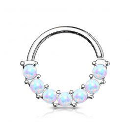 Rõngas opaalkividega välisküljel